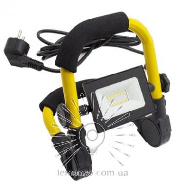 Прожектор LED 10w 6500K IP65 560LM LEMANSO чёрный +подставка (жёлтая) +провод (1,5м) / LMP98-10 описание, отзывы, характеристики