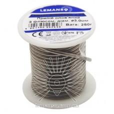 Припой в бухте Lemanso 2,5% 3,0 мм 250г / LM9122