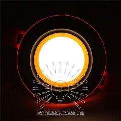 LED панель Сияние Lemanso 9W 720Lm 4500K + оранж. 85-265V / LM1037 круг + стекло