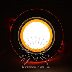 LED панель Сяйво Lemanso 9W 720Lm 4500K + оранж. 85-265V / LM1037 круг