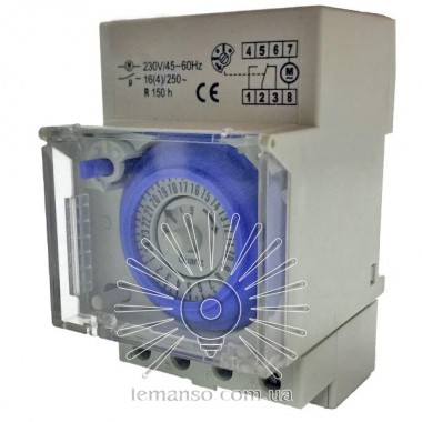Relay timer Lemanso on DIN-rail mechanical LM690