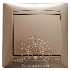 Выключатель 1-й LEMANSO Сакура золото LMR1201