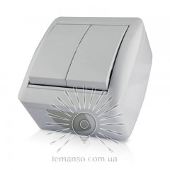 Выключатель накладной 2-й LEMANSO Магнолия белый LMR2002