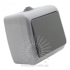 Выключатель накладной 1-й IP54 LEMANSO Немо серый LMR2401