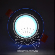 LED панель Сяйво Lemanso 6W 450Lm 4500K + синий 85-265V / LM1036 круг + стекло
