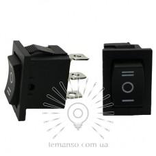 Переключатель  Lemanso  LSW16 малый чёрный 3 полож.с фикс./ KCD1-103-2