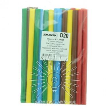 Стержни клеевые цветные Lemanso 11х200мм, упак.20шт.(цена за упак.) LTL14028 описание, отзывы, характеристики