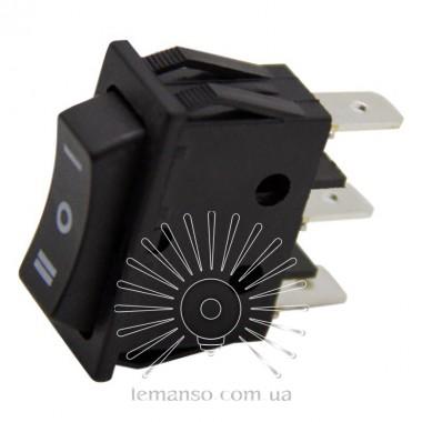 Переключатель  Lemanso  LSW19 узкий чёрный 3 пролож. без фикс./ KCD3-123-4 описание, отзывы, характеристики
