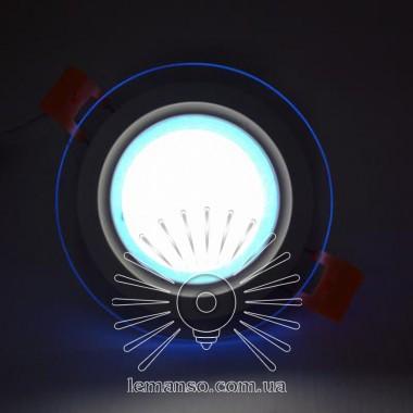 LED панель Сияние Lemanso 9W 720Lm 4500K + синий 85-265V / LM1037 круг + стекло описание, отзывы, характеристики
