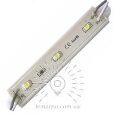 LED модуль Lemanso 2835 3LED 12V 36LM 0.32W IP65 6500K / LR103