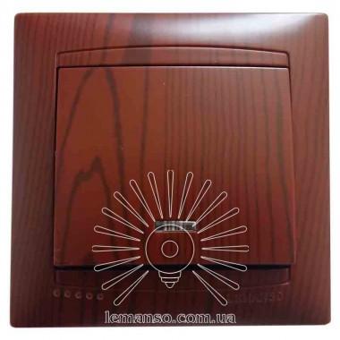 Выключатель 1-й + LED подсветка  LEMANSO Сакура вишня  LMR1504 описание, отзывы, характеристики