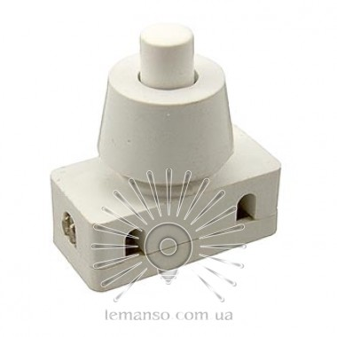 Кнопка Lemanso LSW10 белая для лампы / PBS-18 описание, отзывы, характеристики