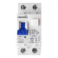 Дифференциальный автомат Lemanso 6.0KA 1п+н 16A 30mA RCBO LBO60