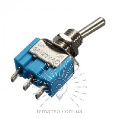 Тумблер Lemanso LSW27 3pin малый 2 полож. ON-ON / MTS-102 описание, отзывы, характеристики