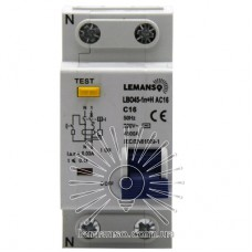 Дифференциальный автомат Lemanso 4.5KA 1п+н 16A 30mA RCBO LBO45