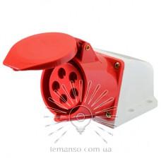 Гнездо стационарное LM2035 (ГС) Lemanso 16А/5п (3п+е+н) 380-415V IP44 красная / упак=1шт