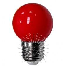 Лампа Lemanso св-ая G45 E27 1,2W красный шар / LM705
