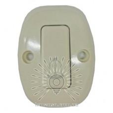Кнопка дзвінка овальна Lemanso слонова кістка / LMA318