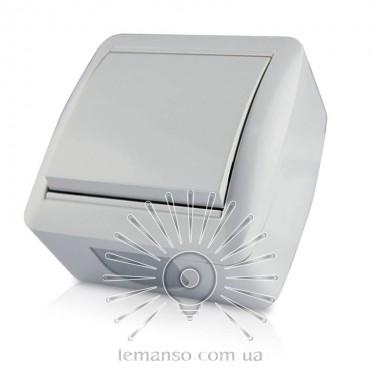 Выключатель накладной 1-й  LEMANSO Магнолия белый  LMR2001 описание, отзывы, характеристики
