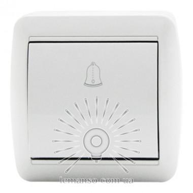 Кнопка звонка LEMANSO Магнолия белая LMR2011 описание, отзывы, характеристики