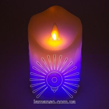 Свеча LED Lemanso 75*125мм RGB 3xAAA (нет в компл.) IP20 / LM36007 (+пульт, еф. пламя) описание, отзывы, характеристики