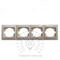 Рамка 4-я LEMANSO Сакура крем горизонтальная LMR1113