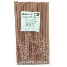 Стержни клеевые 15шт пачка (цена за пачку) Lemanso 7x200мм коричневые LTL14025