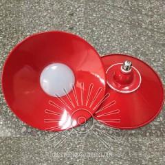 Лампа Lemanso LED IP65 + метал. отражатель 36W E27 2880LM 6500K красный/ LM711
