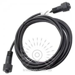 Удлинитель для гирлянды IP65 Lemanso кабель 3м 2*0,75мм (папа+мама) / LMA8012