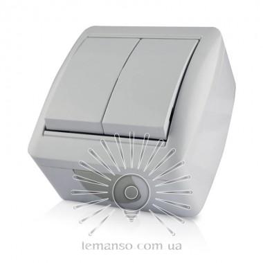 Выключатель накладной 2-й LEMANSO Магнолия белый LMR2002 описание, отзывы, характеристики