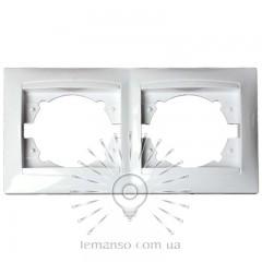 Рамка 2-я LEMANSO Сакура белая вертикальная LMR1032
