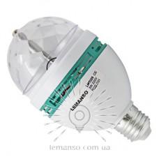 Лампа Lemanso св-ая ДИСКО E27 RGB 3W 230V / LM3026 (гар. 1 год)