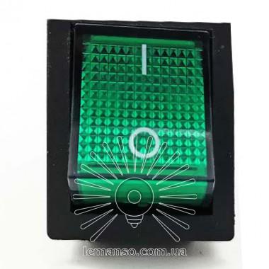 Переключатель  Lemanso  LSW02 большой зелёный с подсв. / KCD2-201\N описание, отзывы, характеристики