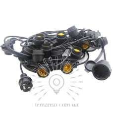 Garland IP65 Lemanso 15 x E27 + cable 10m + fork (IP44) / LMA502 (only LED)