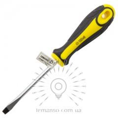 Отвертка плоская LEMANSO 6x100 LTL30007 желто-чёрная