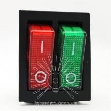 Переключатель Lemanso LSW04 двойной красно/зелёный с подсветкой / KCD2