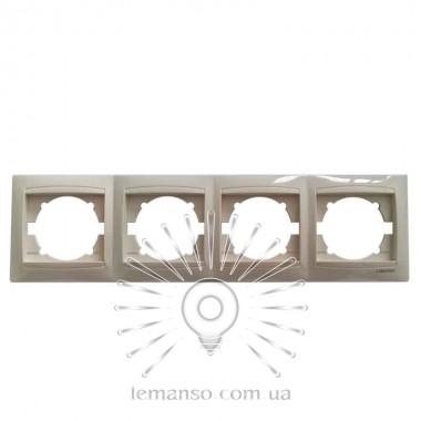 Рамка 4-я LEMANSO Сакура крем вертикальная LMR1134 описание, отзывы, характеристики