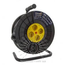 Удлинитель-катушка LMK72004 4 гнезда 50м 16A с/з Lemanso защита от перегрузки, макс нагр 800-3000Вт