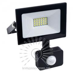 Прожектор LED 30w 6500K IP65 1800LM LEMANSO 175-265V с датчиком чёрный/ LMPS38