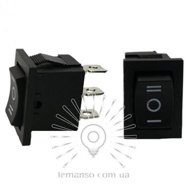 Переключатель  Lemanso  LSW16 малый чёрный 3 полож.с фикс./ KCD1-103-2 описание, отзывы, характеристики