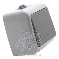 Выключатель накладной 1-й промежуточный LEMANSO Немо серый LMR2407