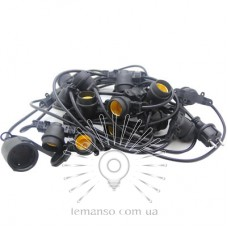 Garland IP65 Lemanso 20 x E27 +  cable 10m +  fork (IP44) / LMA501 (only LED)