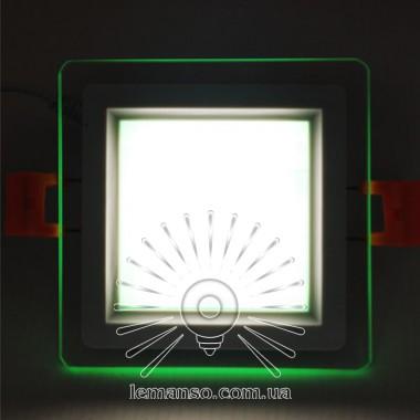 LED панель Сияние Lemanso 6W 450Lm 4500K + зеленый 85-265V / LM1038 квадрат + стекло описание, отзывы, характеристики