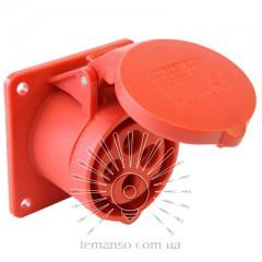 Гнездо врезное LM2009 (ГВ) Lemanso 32А/4п (3п+н) 380-415V IP44 красное