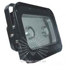 Прожектор LED 100w 6500K IP65 2LED LEMANSO чёрный с линзами / LMP6-101