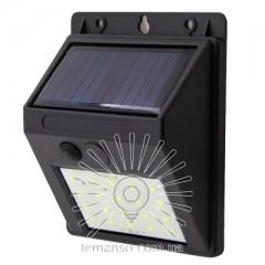 Подсветка для стены LED Lemanso 4W 80LM IP65 6500K с д/движения и солн. батареей / LM33007 с аккум