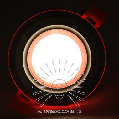 LED панель Сияние Lemanso 9W 720Lm 4500K + красный 85-265V / LM1037 круг + стекло описание, отзывы, характеристики