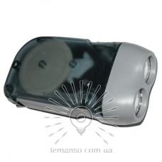 Фонарик LEMANSO 2 LED серый / LMF41