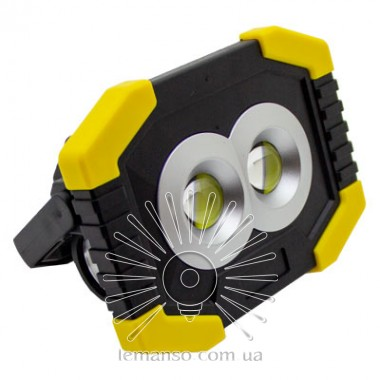 Прожектор LED 8W COB 100-150Lm 6500K IP44 LEMANSO зелено (желто)-черный/ LMP91 с USB и аккум. (гар.180дн.) описание, отзывы, характеристики