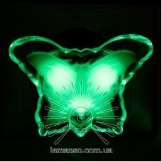 Ночник Lemanso Бабочка зелёный 3 LED / NL103